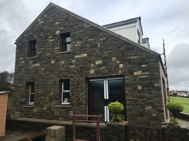 Stone Work, Roof & Extension